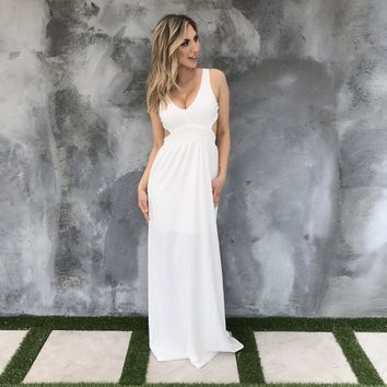 Tie The Knot Ivory Maxi Dress