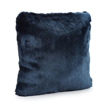 Blue Faux Mink Pillow- DICONTINUED