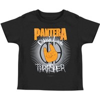 Pantera Boys' Lil Thrasher Toddler Tee Childrens T-shirt Black Rockabilia