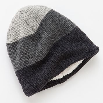 Urban Pipeline Colorblock Sherpa-Lined Waffle-Knit Beanie - Men