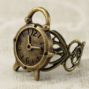 vintage style lovely Alarm Clock adjustable ring by Sevinoma