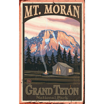 Personalized Grand Teton National Park Wood Sign