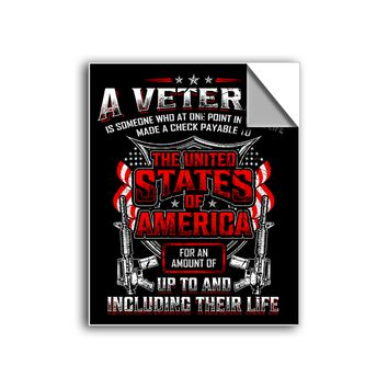 "FREE SHIPPING - ""Veteran Commitment"" Vinyl Decal Sticker (6"" tall) - Limited Time Only!"
