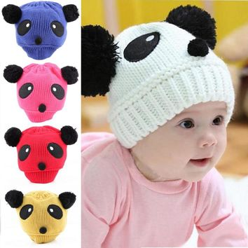 New 1x Lovely Animal Panda Baby Hats And Caps Kids Boy Girl Croc 66aec4dcd9ab