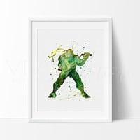 Teenage Mutant Ninja Turtles - Michelangelo Watercolor Art Print