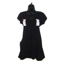 Black Altered Lolita Dress Tunic Maternity Top Juniors Clothes Size Large