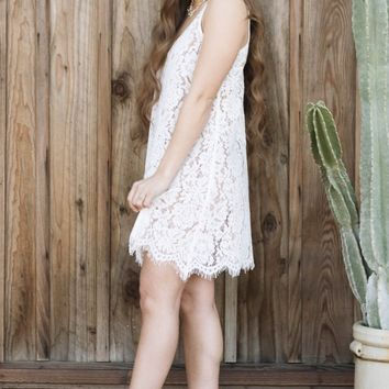 White Lace Cami Dress