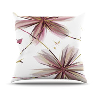 "Alison Coxon ""Flower Aubergine"" Throw Pillow"