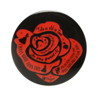 Disney Beauty And The Beast Enchanted Rose Button Mirror