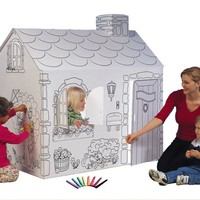 Childrens Coloring Playhouse - Cardboard Cottage