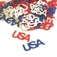 4th of July Decorations - Patriotic Confetti - USA - 100 Pieces