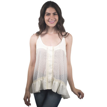 Lace Blouse With White Studded Back