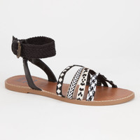 Billabong Shoreline Trips Womens Sandals Black/Khaki  In Sizes
