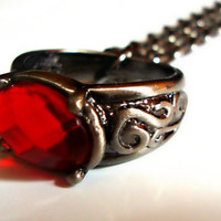 Philosopher's Stone Ring Necklace
