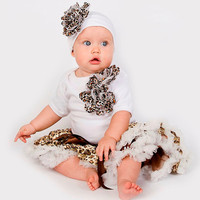 Baby Girl Outfit, Cheetah Baby Tutu Set, Baby Tutu Set, Baby Gifts , Girls Boutique Clothes