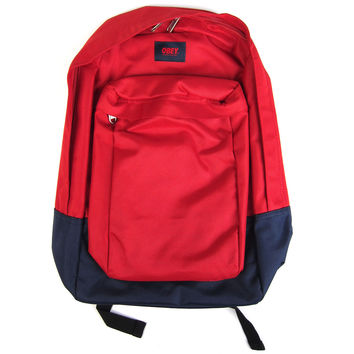 Obey: Transit Backpack - Red / Navy
