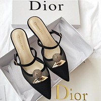 DIOR Hot Sale Women Fashion Pointed High Heels Shoes