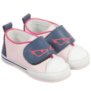 MDIGMS9 Fendi Baby Girls Pink 'Monster' Shoes