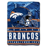 Denver Broncos NFL Silk Touch Throw (Stacked Series) (60inx80in)