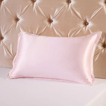 Multicolor 16momme Mulberry Silk Pillowcase  Single Side Silk Bedding Pillowslips  2 piece