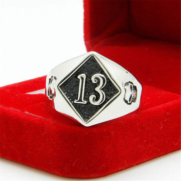 Mens Old Silver Ring Hight Quality Skull Punk Style Ring Best Christmas Gift One Size Rings-96