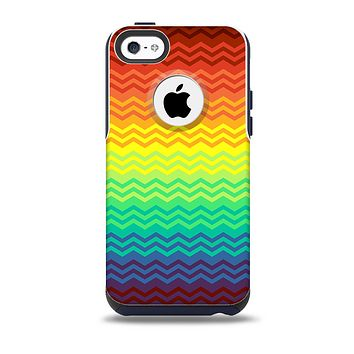 The Rainbow Thin Lined Chevron Pattern Skin for the iPhone 5c OtterBox Commuter Case