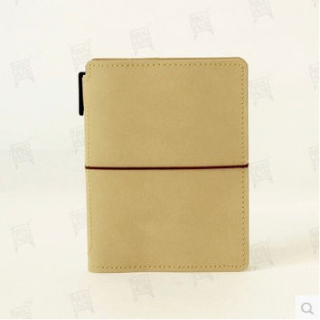 Rinsed Denim Leather Black Brown Journal [6432392518]