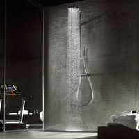 Thermostatic shower column with overhead shower Likid Collection by Carlo Nobili S.p.A Rubinetterie   design Gordon Guillaumier, Rodolfo Dordoni