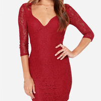 Lace Back Cut Out Bodycon Mini Dress with Sleeve