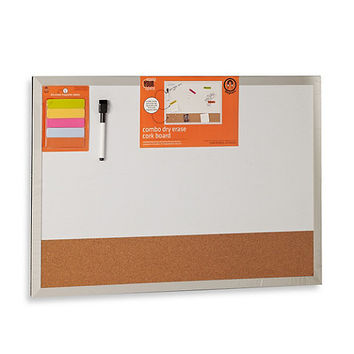Magnetic Dry Erase and Cork Combo Board