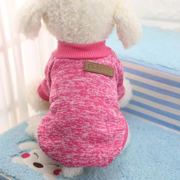 PET CLASSIC SWEATER FLEECE WINTER WARM CLOTHES DOG PUPPY OUTFIT APPAREL CLOTHING