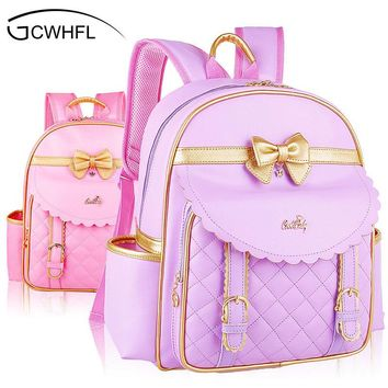 Orthopedic Elementary School Bags Children Backpacks Portfolio For Lovely Girls Grade 1-3-6 Mochila Infantil Princess Backpack