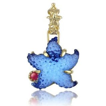 Tagliamonte Designer Necklaces Marina Collection - Blue Starfish Ruby & 18k Gold Pendant