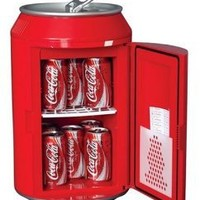 Koolatron CC10G Coca-Cola Can-Shaped 8-Can-Capacity Fridge, Red: Appliances