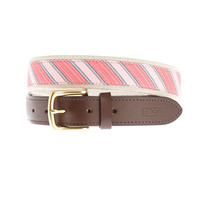 Men's Belts: Tied to a Cause Chappy Stripe Belt - Vineyard Vines