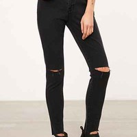 BDG High-Rise Twig Grazer Skinny Jean - Washed Black Slash - Urban Outfitters