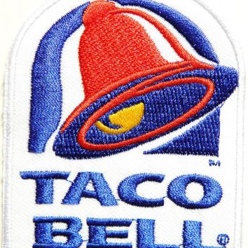 TACO BELL Logo Jacket Patch Sew Iron on Embroidered Symbol Badge Cloth Sign bY PRINYA SHOP