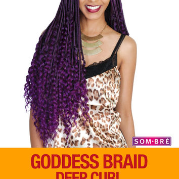 Zury Goddess Braid Deep Curl Synthetic Braiding Hair Crochet Braid 26""