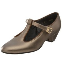Tic-Tac-Toes Women`s Peggy Ballroom Shoe,Pewter,6.5 W US