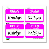 Kaitlyn Hello My Name Is - Sheet of 4 Stickers
