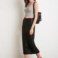 Marled Halter Crop Top