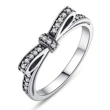 Bow Knot Stackable Ring
