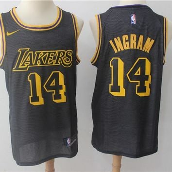 LA Lakers 14 Brandon Ingram City Edition Swingman Jersey