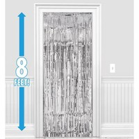 Silver Doorway Curtain