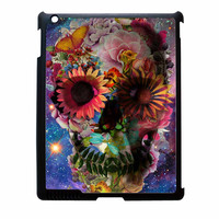 Floral Sugar Skull On Galaxy iPad 2 Case