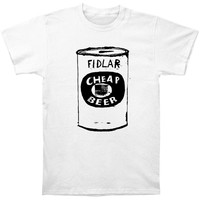 Fidlar Men's  Cheap Beer T-shirt White