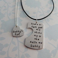 there is this girl she stole my heart she calls me Daddy Necklace with Daddy's girl Necklace / Father Daughter Gift Set / Father's Day Gift