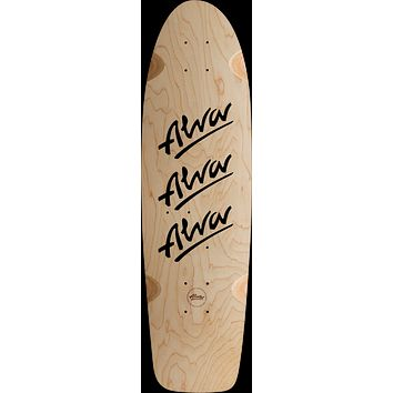Alva 1979 Tri-Logo Deck 10x30 Natural/Black With Grip