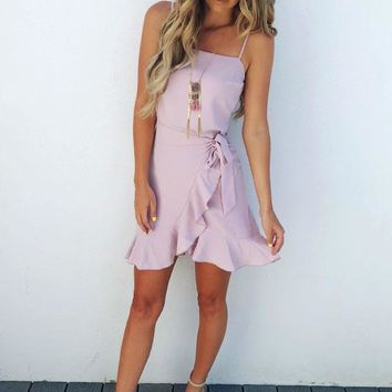 Time To Dance Dress: Misty Pink