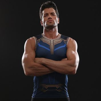 Thanos 3D Printed T shirts Men Avengers 3 Compression Shirts Comics Cosplay Costume Clothes 2018 Summer Fitness Tops For Male